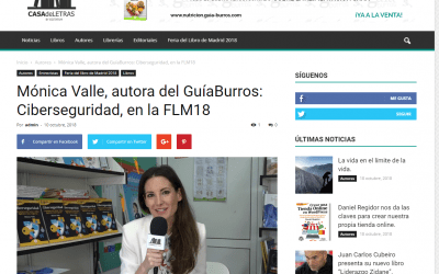 Mónica Valle, autora del GuíaBurros: Ciberseguridad, entrevistada en Casa de Letras